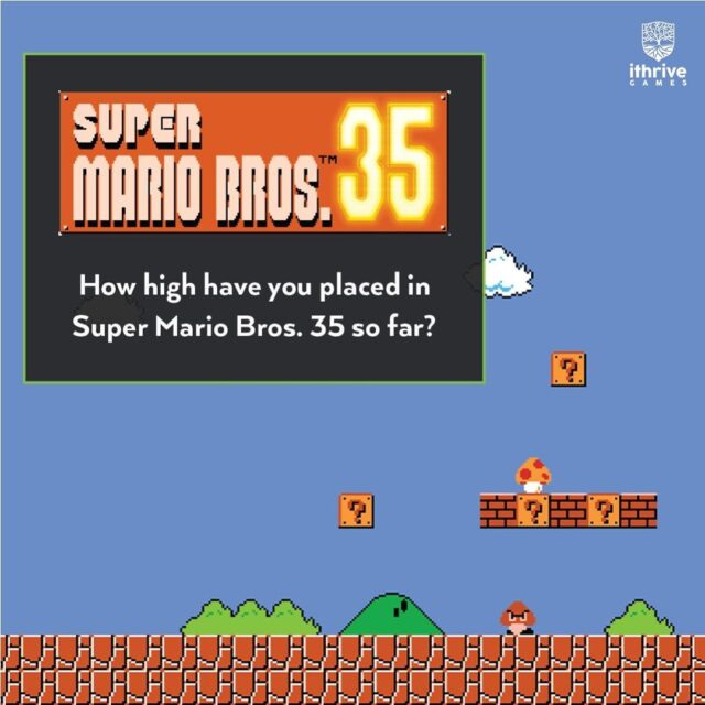 In celebration of the 35th anniversary of #SuperMarioBros, @Nintendo released an action-packed version of the 2D platform game featuring battle royale elements. How high have you placed so far? (This is a safe space.)⠀ .⠀ .⠀ .⠀ .⠀ .⠀ #supermariobro #mario #mariobros #smashbros #nintendoswitch #nintendo64 #supermario64 #nintendo #nintendodirect #nintendolite